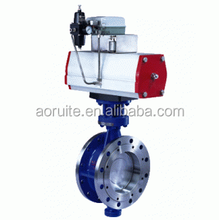 D643H-16C Pneumatic Actuated Metal-sealing Flange Butterfly Valve