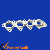 casting four holes exhaust flange for cars accessories