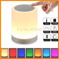 Support Aux TF Card Touch Control Changing Color Night Light Bluetooth Speaker