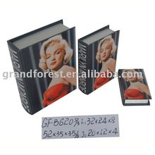 Marilyn Monroe Printing Wooden Book Box