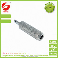 "Metal Mono Male 1/8 3.5mm to 6.35mm 1/4/"" Female Jack Plug Audio Adapter"