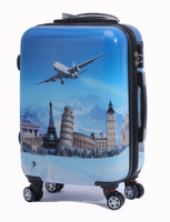 promotion luggage /pc printing luggage/abs printing luggage