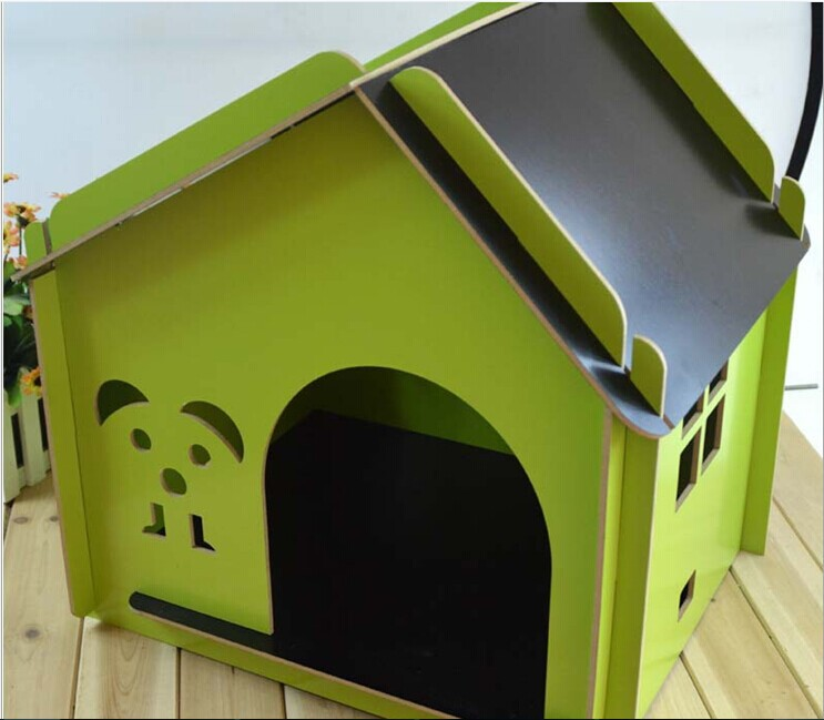 QQFactory wooden dog cage & dog house