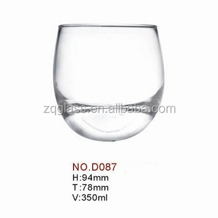 350ml 12oz Machine-made Machine Blown Gyroscope Peg-top Rocking Ball Egg Round Roly-poly Whisky Whiskey Glass Cup Glasses