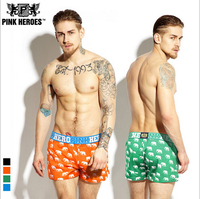 New Arrival Pink Hero Brand Underwear Homme Shorts Full Printed