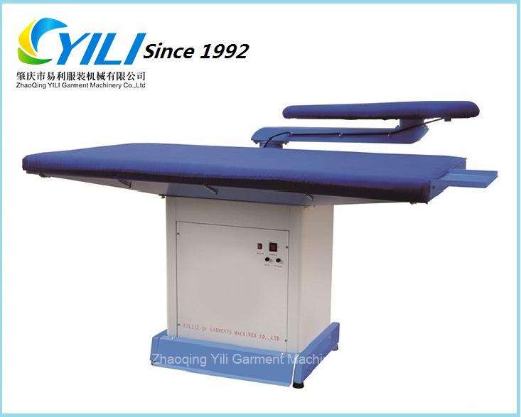 Industrial single swing arm vacuum ironing table/Suits vacuum ironing board for hotel & laundry