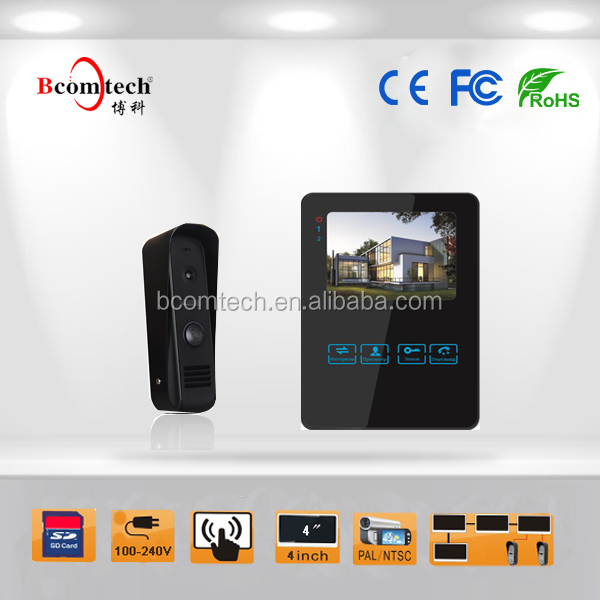 4 Inch video door phone with picture and video memory for Smart Home