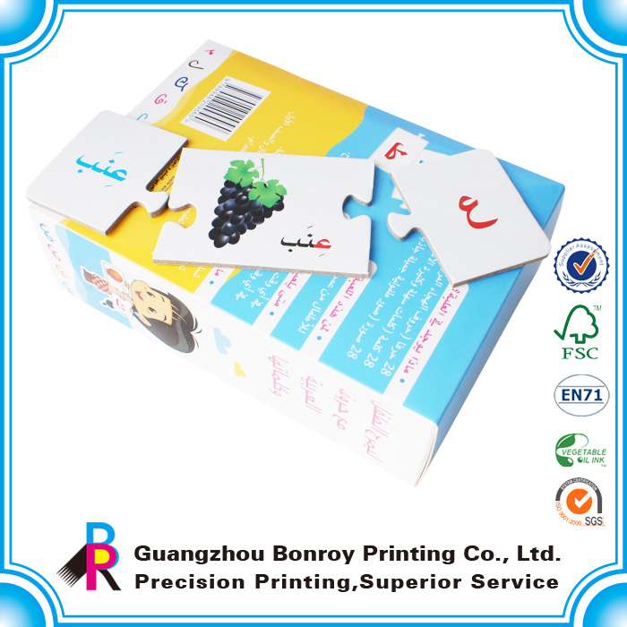 Customized Children & adult puzzle game cards printing