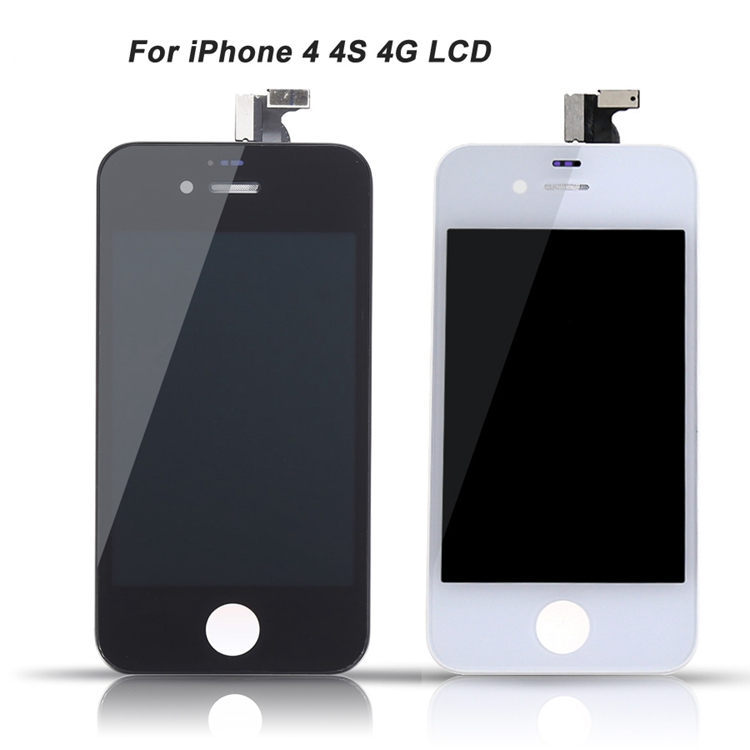 refurbishing original pass lcd for apple iphone 4 4s a1332 display touch screen digitizer complete replacement cost panel oem