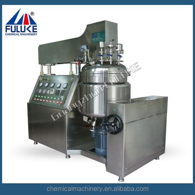 stretch mark removal cream vacuum making machine with upper homogenizer
