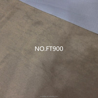 NO.FT900 100% Polyester Material and Blackout,Flame Retardant Feature suede coated blackout fabric
