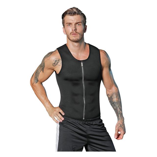 Men Neoprene Slimming Vest Waist Trainer Corset Hot Body Shaper Workout Tank Top Shirt For Weight Loss Sweat Suits