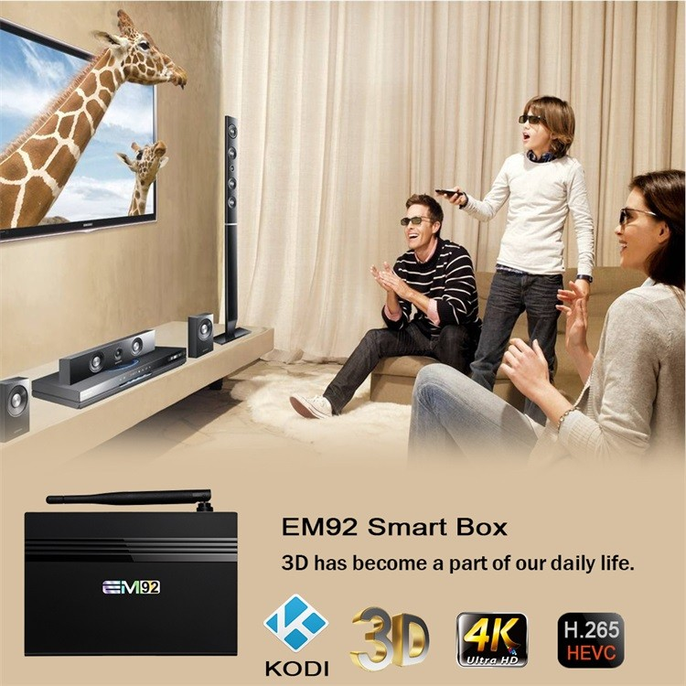 ENY Amlogic S912 Octa Core Android 6.0 Marshmallow Smart TV Box 2.0Ghz 16GB eMMC 4K Kodi Amlogic S912 TV Box