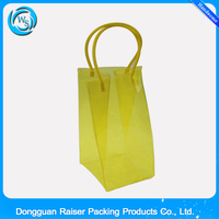 Reuseful Clear Plastic Flat Pack Chilled Wine Carrier/Tote Bag