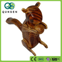 decorative wooden carved squirrel