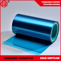 China supplier silicone coated Clear blue pet film