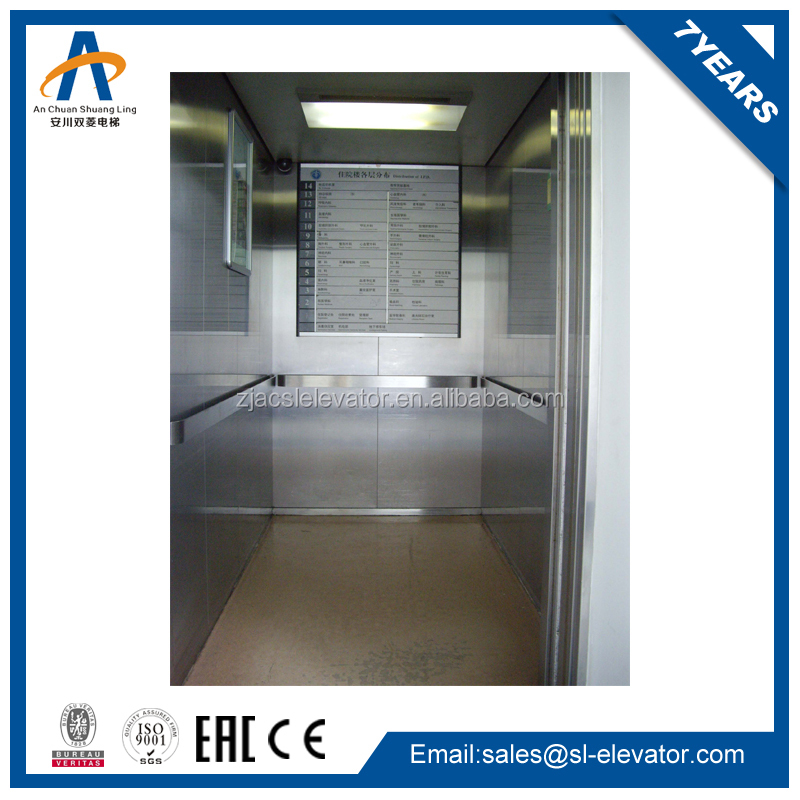 small cabin AC steel wheelchair elevator lift with 800kg 2.0m/s