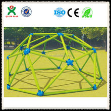 Newest bright green color metal climbing frame/outdoor climbing frame QX-094B