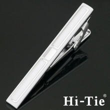 Hi-Tie LJ 119 Tie Bar Clip Sterling Silver On the Tie Parts