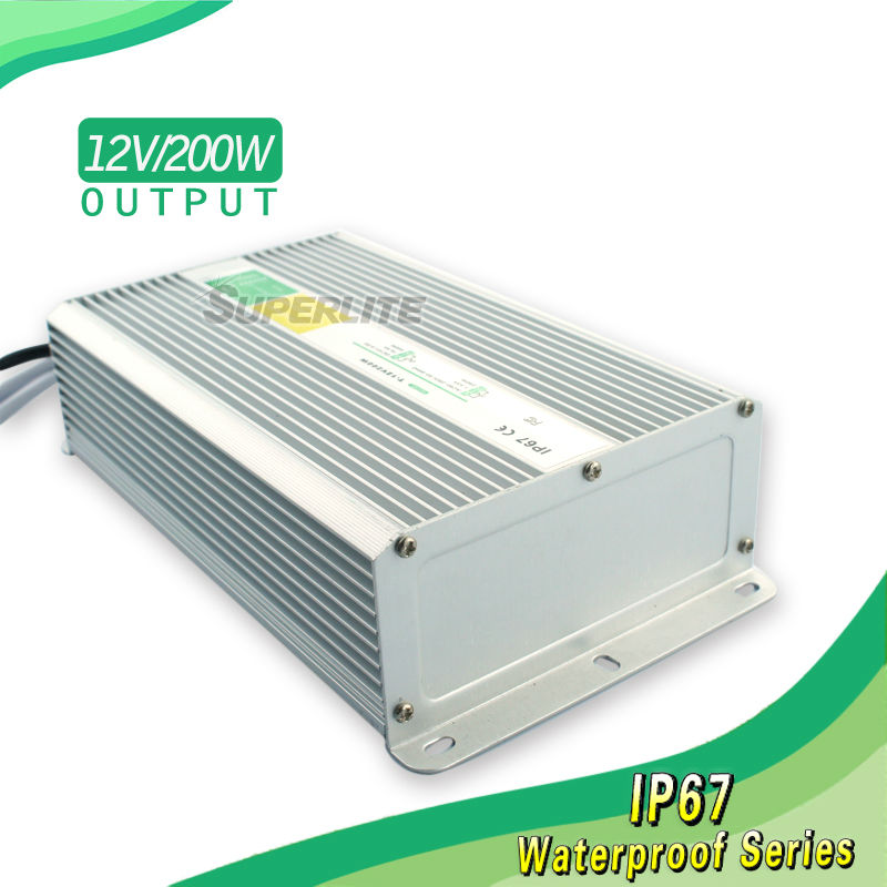 12v 200w waterproof power supply ip67 waterproof 220v to 12v led driver circuit