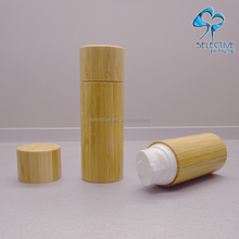 30ml 50ml 100ml 120ml Plastic PP cosmetic airless pump bamboo bottle