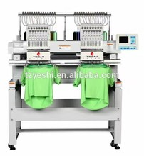 High Precision 2 head embroidery machine computerizad intelligent flat embroidery machine