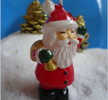 Wholesale Father Christmas model shape paraffin wax christmas wax christmas trees shaped candles