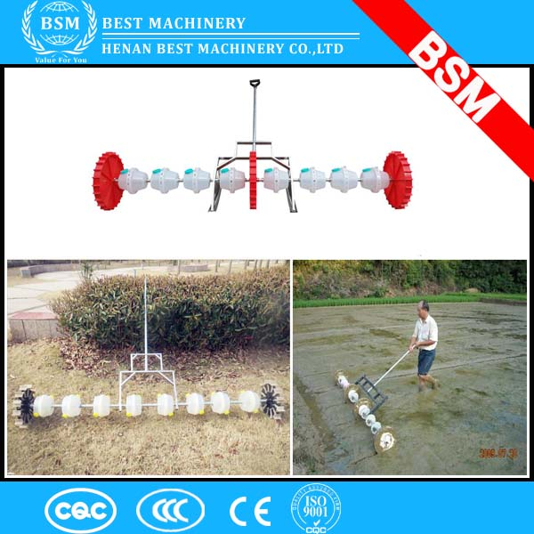2017 portable hand push rice drum seeder / rice seedler