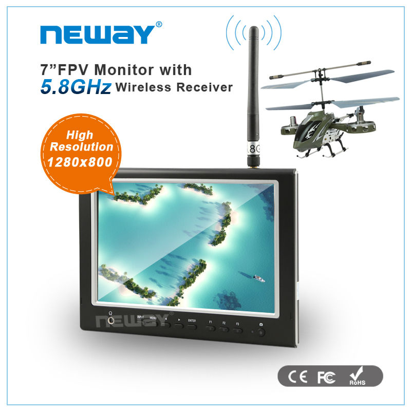 for Aerial Photography 7 inch with 1280x800 back monitor application