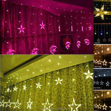 2017 good sale indoor/outdoor holiday led light decoration 2m waterproof led Christmas star led string lights