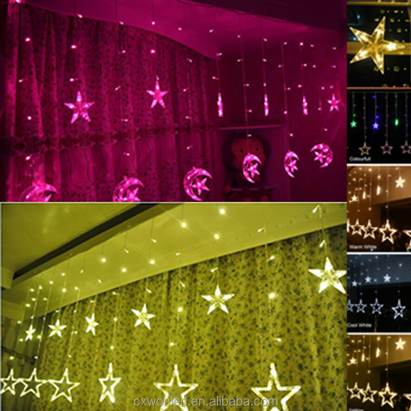 2018 good sale indoor/outdoor holiday led light decoration 2m waterproof led Christmas star led string lights