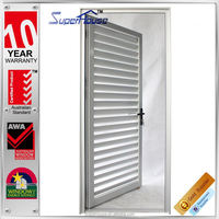 2015 new arrival Aluminium exterior louvered door without fly net