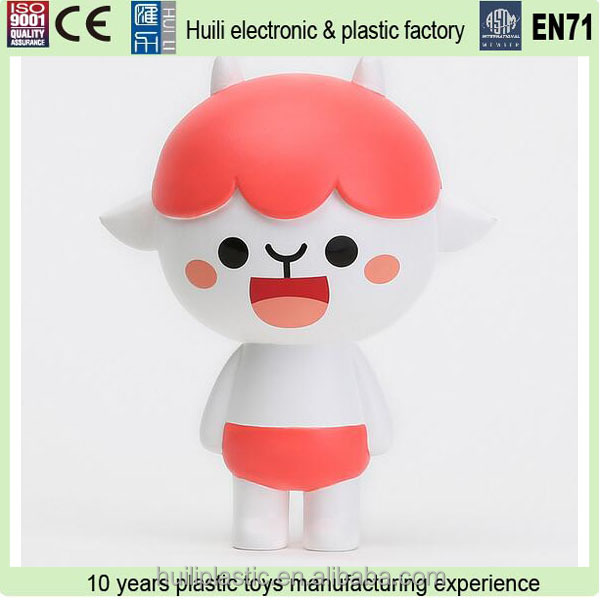 Custom design 3D cartoon vinyl figure, OEM plastic vinyl toy roto casting vinyl toy, DIY OEM figure for collection,