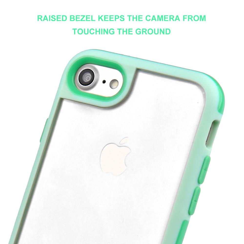 C&T 2 in 1 Interchangeable Back Panel Plated Bumper Clear TPU Case Cover for Apple Iphone 6s