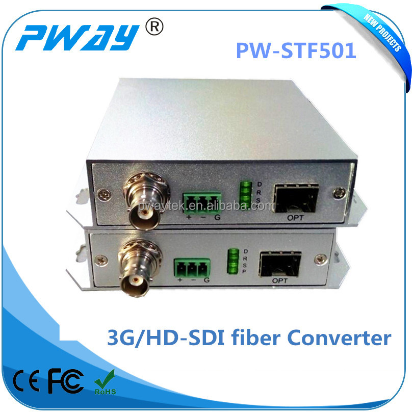 New arrival best-selling support RS232 signal bidirectional transmission hd-sdi fiber optical transmitter and receiver