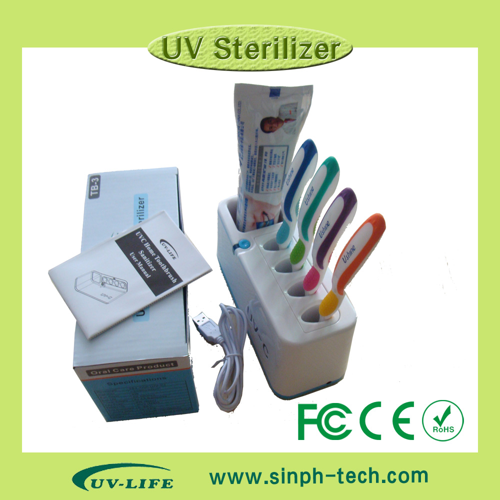 2015 New design household UV toothbrush sanitizer