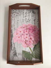 wooden food serving tray for home