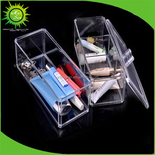 DIY Desk Household Clear Acrylic Plastic Cosmetic Drawer Organizer Makeup Case Box Storage