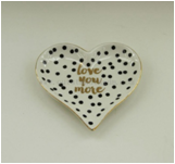 China Wholesale Heart Shape Ceramic Plate For Wedding Favor