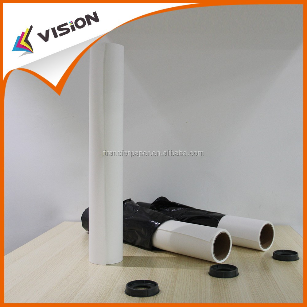 Fast dry sublimation transfer fabric printing paper in roll form with high transfer rate for D.gen printer