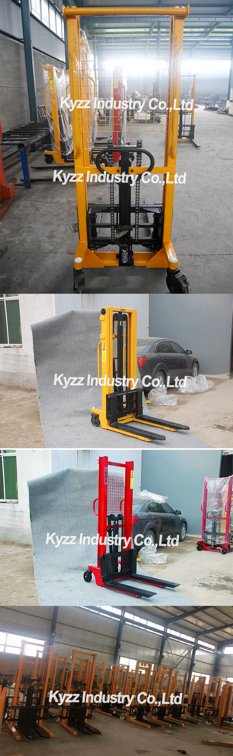 Winch Walking Lifter Industrial Material Stacker Counter Balanced Walker Stacker Hand Pallet Truck Manual