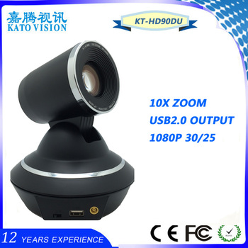 RS-232C/422, HD 1080p USB plug and play Video Conference Camera