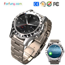 Round design smart watch camera 1.3mp with heart rate monitor