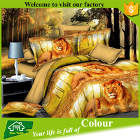 3d gold tiger duvet cover set with zipper