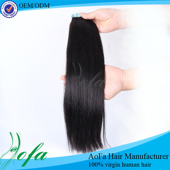 Virgin hair,Tape in hair extension adhesive tape prebond hair