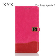attractive new products magnetic closure leather case for sony xperia e, for sony xperia e c1504/c1505/c1605 case
