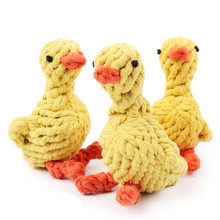Cheap Wholesale Pet Puppy Chew Cotton Rope Duck Clean Teeth Interactive Toys for Small Dogs