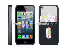 [New arrival] TPU card holder case, wallet case for iphone 5C