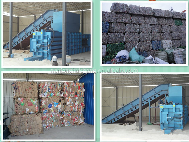 M series semi-automatic horizontal baler for waste paper/plastic/straw