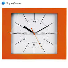 (HC2411F)square photo frame shape plastic wall clock for home decoration